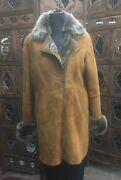 Womenand039s Merino Lamb 3/4 Lightweight Coat With Toscana Collar And Cuff Size M