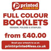 Full Colour Printed Booklets - 150gsm - Brochures - Folded And Stapled A4 A5 A6