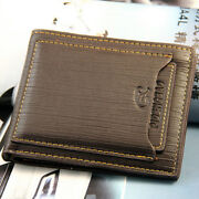 Fashion Menand039s Bifold Leather Wallet Id Credit Card Holder Billfold Purse Clutch