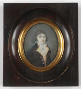 Louis Abel Fl. 1792/1801 Portrait Of A French Officer Miniature 1799