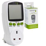 Energenie R007 Programmable Energy Saving Power Meter - Calulates Running Costs