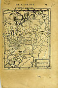 1683 Genuine Antique Map Moscovie Russia In Europe Moscow. A.m. Mallet