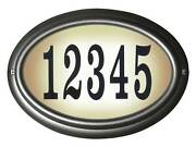 Edgewood Lto-1302-pw Oval Lighted Address Sign In Pewter Frame Color