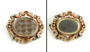 Antique Mourning Brooch Memorial Jewelry 10k 2-sided Hair 9.55 Grams 1.4