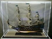 47 X 15 X 38 Inch Table Top Acrylic Display Case Led Lights For Tall Model Ships