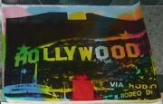 Hollywood Sign 31x22 By Steve Kaufman. Tr2 Unique Masterpiece. Amazing Colors