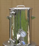 9.2 Gallon Hot Liquor Tank, Thermometer And Sight Glass, Home Brewing,