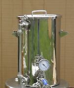 9.2 Gallon Hot Liquor Tank Thermometer And Sight Glass Home Brewing