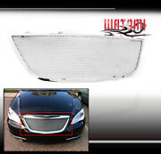 For 11-14 200 Upper Stainless Steel Mesh Grille Grill Chrome Replacement