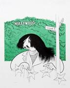 The Beatles Ringo Star In Hollywood By Al Hirschfeld. Color S/n Lithograph