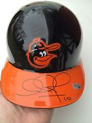 Adam Jones Signed Game Throwback Used Helmet -mlb Holo To Game And Auto-1/1 Oriole