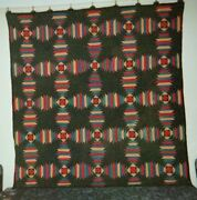 Windmill Blades Quilt Midwestern Amish C. 1900 Cottons