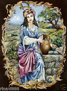 Rebecca At The Well Giclee Canvas Tanach/bible Israel