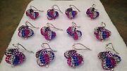 12 Handmade Christmas Ornaments Made With Bling Blue Pink And Silver