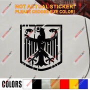 Germany Vintage Retro German Flag Coat Of Arms Eagle Car Decal Sticker
