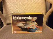 Vintage Collectible Item By Clockwork Motorcycle Ms 702 Wind-up Tin Toy