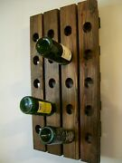 Wall Wine Rack Wood Handmade Rustic French Country Riddling Rack