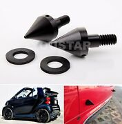 Pair Black Front / Rear Bumper Spikes Guards Protector For Smart Fortwo Ed 08-14