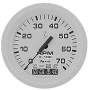 New Dress White Series Faria Instruments 33150 4 Tachometer W/ System Check 700