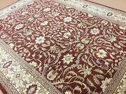 9 X 11.7 Red Beige Fine Classic Ziegler Oriental Rug Hand Knotted All Over Wool