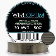 30 Gauge Awg Kanthal A1 Wire 500and039 Length - Ka1 Wire 30g Ga 0.254 Mm 500 Ft