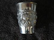 Heavy Antique Sterling Silver 925 Kiddush Wine Cup Art Goblet Marriage Present