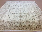 8and039.3 X 9and039.8 Beige Green Ziegler Oriental Area Rug All Over Hand Knotted Wool