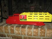 Vintage 1950and039s Coca Cola Marx Stake Truck With Sprite Boy - Restored