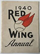 1940 Red Wing Baseball Yearbook With 22 Signatures With Jsa Authentication