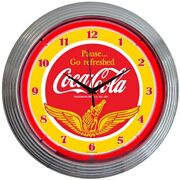 Coke Pause And Refresh Neon Sign Coca-cola Soft Drink Beautiful Green And Red