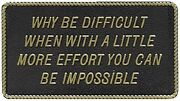 New Fun Plaque Bernard Engraving Fp050 Why Be Difficult When With A Little More