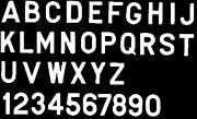 New 3 Gothic Letters-pressure-sensitive Bernard Engraving Ps30ws S White