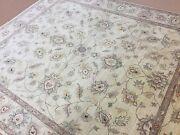 8.4 X 9.7 Beige Yellow Fine Ziegler Oriental Area Rug Hand Knotted All Over