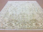 8and039 X 10and039 Light Brown Beige Ziegler Oriental Area Rug Hand Knotted All Over Wool