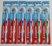 6 Colgate Toothbrush Extra Clean Full Head Firm 95 Brushes Hard - New
