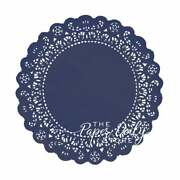 Navy Dark Blue Paper Lace Doilies   4 5 6 8 10 12 14 16   Navy Charger