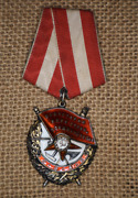 Russian Soviet Russia Ussr Cccp Medal Pin Badge Order Of Red Banner Silver
