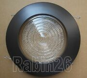 6 Recessed Can Light Bronze Brown Shower Trim Fresnel Clear, Milky Frosted Lens