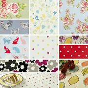 Clarke And Clarke Wipe Clean Oilcloth Fabric Vintage And Red Tablecloths 100cm