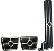 Billet Specialties Black Pedal Kit,gas,clutch,brake Pedals,58-67 Chevy Manual