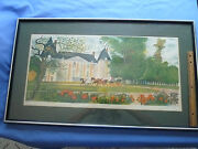 Signed And Numbered Victorian Carriage Lithograph W/ Certificate Of Authenticity