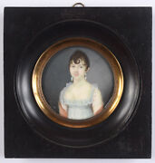 Pierre Charles Cior 1769-ca.1840 Young Lady In White Empire Dress 1800/05