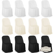 100 Wedding/party Folding Chair Covers - Polyester Cloth