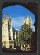 View Of Canterbury Cathedral From Church Gate. Stamp/postmark - 1992