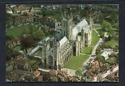 Aerial View Of Canterbury Cathedral. Stamp/postmark - 1999