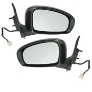 12-15 Iq Rear View Mirror Power Heated W/turn Signal Light Left And Right Pair Set