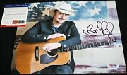 Brad Paisley Signed 8 X 10 Mud On The Tires Time Well Wasted Psa/dna Z51237