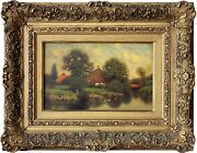 House On The Water Fine Oil Painting By American Artsit George W. Drew 1875-1968