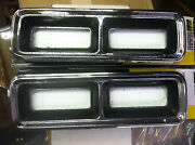 1968 Chevrolet Camaro Right Hand/left Hand Tail Light Bezels Used Muscle Car