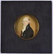 Yves Dominique Collin 1753-1792 French Functionary Rare Miniature 1792